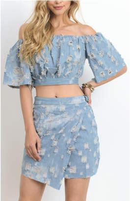 Hommage Denim Skirt Set