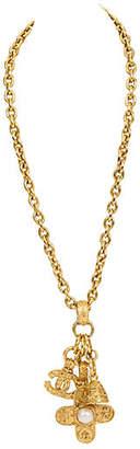 One Kings Lane Vintage Chanel Triple-Charm Florentine Necklace - Vintage Lux