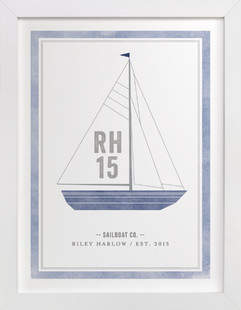 Sailboat co. Children's Custom Art Print