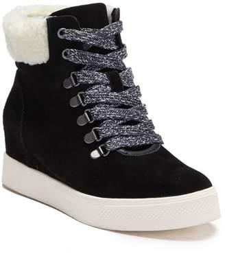62210d8a4faff Steve Madden Warner Wedge Faux Shearling Sneaker Bootie