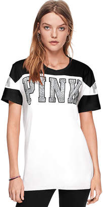 PINK Bling Campus Short Sleeve Tee