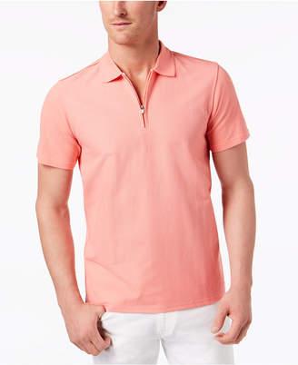 Ryan Seacrest Distinction Ryan Seacrest Men's Slim Fit Zip-Up Polo
