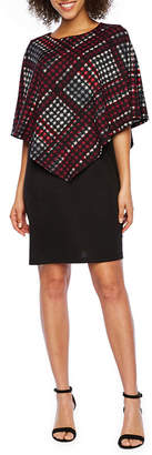 R & K Originals Short Sleeve Pattern Sheath Dress