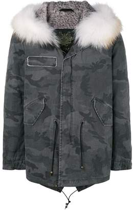 Mr & Mrs Italy camouflage printed parka
