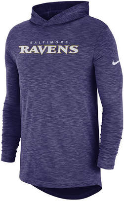 Nike Men's Baltimore Ravens Dri-Fit Cotton Slub On-Field Hooded T-Shirt