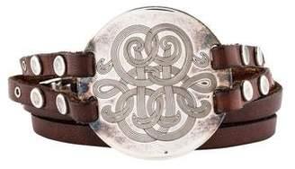 Gas Bijoux Diva Double Leather Wrap Bracelet