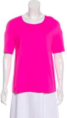 J Brand Scoop Neck Short Sleeve Top