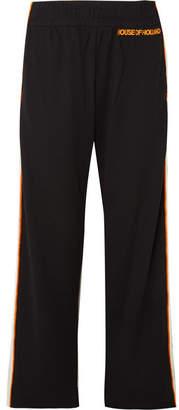 House of Holland Missy Velvet-trimmed Jersey Track Pants