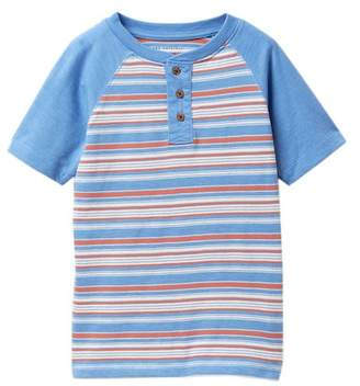 Lucky Brand Short Sleeve Striped Henley (Little Boys)