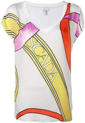 Escada Sport printed V-neck T-shirt