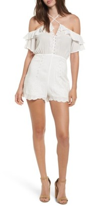 Women's Lush Strappy Off The Shoulder Romper $52 thestylecure.com