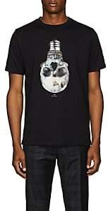 Paul Smith Men's Skull Bulb-Print Organic Cotton T-Shirt - Black