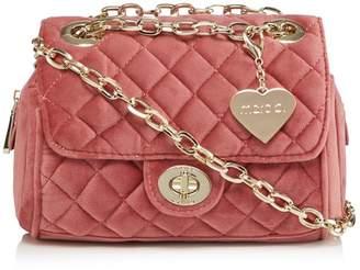 Marc B Dark Pink Velvet 'Knightsbridge' Quilted Shoulder Bag