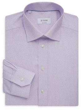 Eton Contemporary Fit Printed Dress Shirt