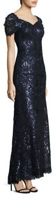 Tadashi Shoji Sequined Lace Off-Shoulder Sweetheart Gown $608 thestylecure.com