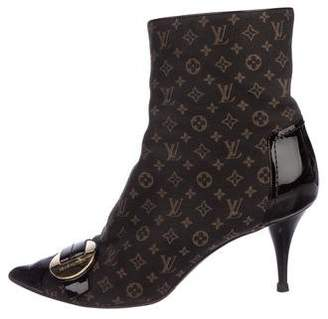 Louis Vuitton Monogram Idylle Ankle Boots