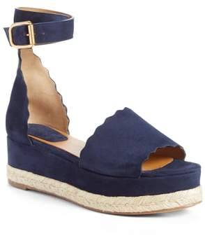 719b8f27915 Chloé Blue Wedge Women s Sandals - ShopStyle