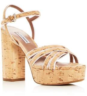 Tabitha Simmons Women's Hensley Cork Platform High-Heel Sandals