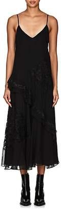 Derek Lam 10 Crosby Women's Lace-Inset Georgette Midi-Dress