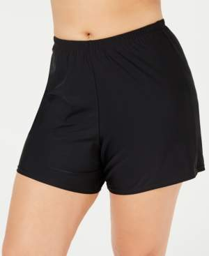 Island Escape Swimwear Plus Size Swim Shorts, Created for Macy's Women's Swimsuit