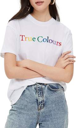 Topshop by And Finally True Colours Boyfriend Tee