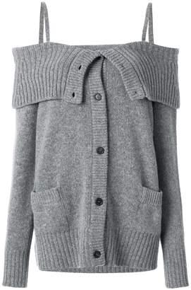 Prada oversized off-the-shoulder cardigan