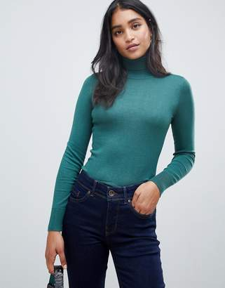 Oasis turtleneck sweater in teal