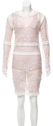For Love & Lemons Sheer Embroidered Dress