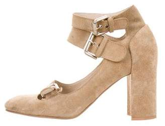 See by Chloe Suede Round-toe Pumps