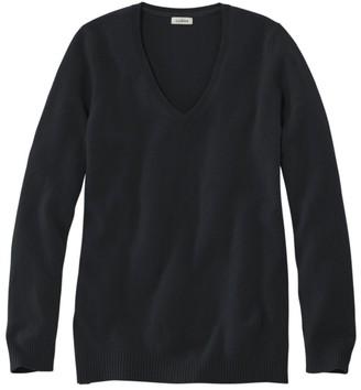 L.L. Bean L.L.Bean Women's Classic Cashmere Sweater, V-Neck