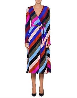 Diane von Furstenberg L/S Midi Dress