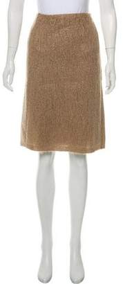 Prada Mohair-Blend Knit Skirt w/ Tags