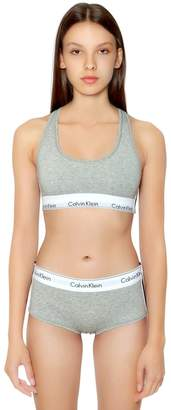 Calvin Klein Underwear Unlined Cotton Blend Jersey Bralette