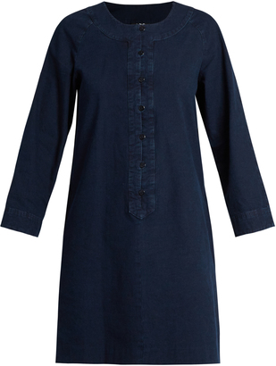 A.P.C. Louxor round-neck cotton dress $202 thestylecure.com