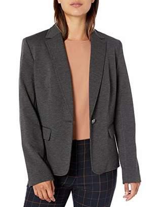 Nine West Women's 1 Button Notch Collar Heathered Ponte Jacket