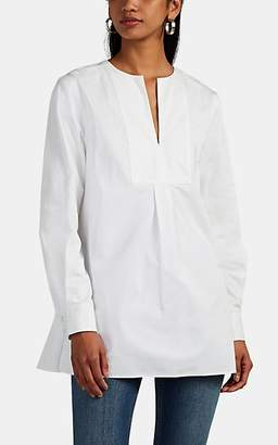 Co Women's Cotton Poplin Split-Neck Tunic - White