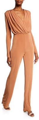 Misha Collection Atlanta Long-Sleeve Wrap-Top Jumpsuit