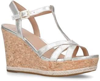 UGG Melissa Metallic Wedge Sandals