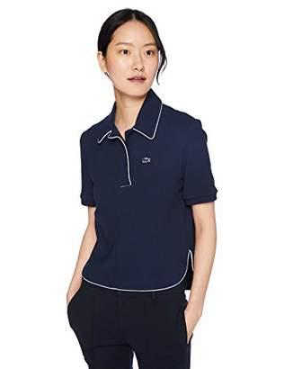 Lacoste Women's Short Sleeve PIMA Cotton Athleisure Badge Polo