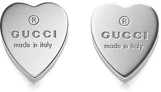 Gucci Sterling Silver Heart Earrings