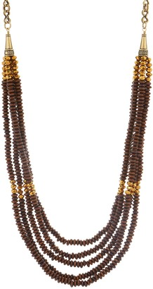 "Joan Rivers Classics Collection Joan Rivers Layered Wooden Bead 38"" Necklace w/ 3"" Extender"