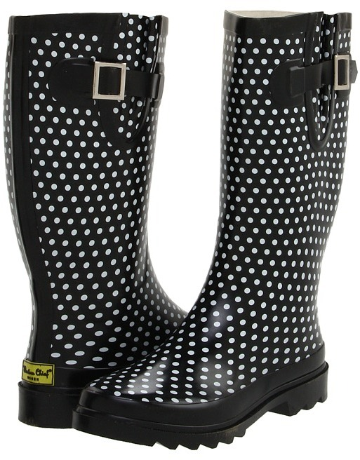 Western Chief Plain Dot (Black) - Footwear
