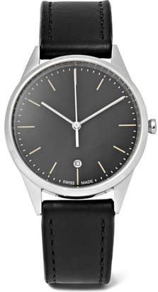 Uniform Wares C36 Stainless Steel and Leather Watch