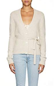 Brock Collection Women's Ottico Cashmere Belted V-Neck Cardigan - 110-Open White