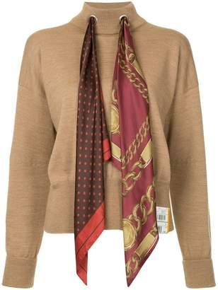 Puma Maison Yasuhiro scarf knit jumper
