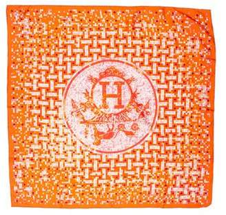 Hermes Mosaique Au 24 Silk Pocket Square