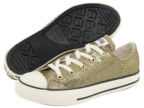 Converse Kids - Chuck Taylor REG All StarREG Holiday Glitter Ox (Toddler/Youth) (Champagne/Milk/Glitter)