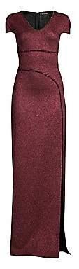 St. John Women's Mod Metallic Knit Gown