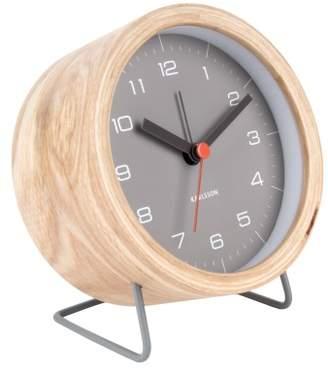 Present Time Wooden Alarm Clock