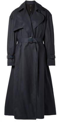 Ellery Illustrated Woman Cotton-gabardine Trench Coat - Navy